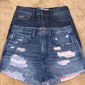 2 Pairs of Hollister High Rise Shorts